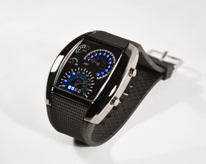 LED Часы 'Speed Dial' Watch Спидометр Авиатор